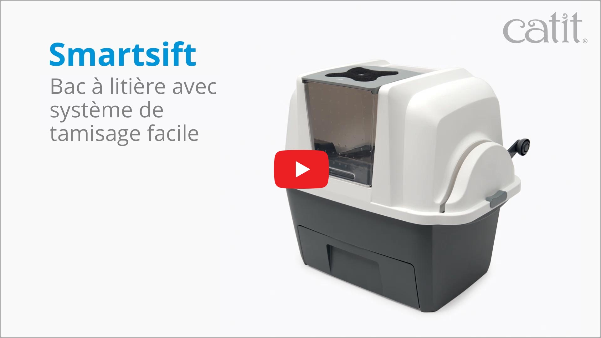 Bac à litière avec système de tamisage facile