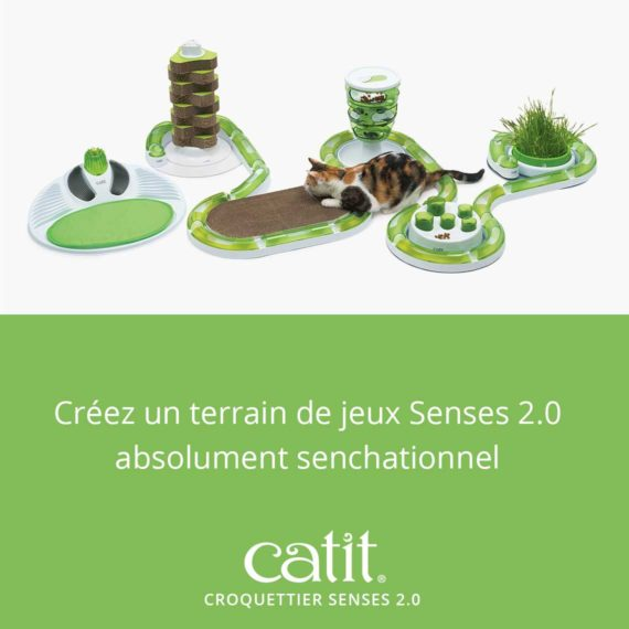 Créez un terrain de jeux Senses 2.0 absolument senchationnel avec le Croquettier Senses 2.0 Catit