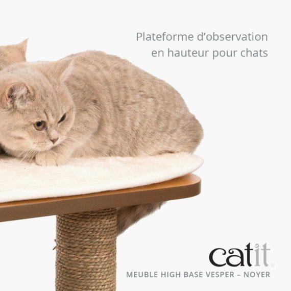 Meuble Vesper High Base Catit - Plateforme d'observation en hauteur pour chats