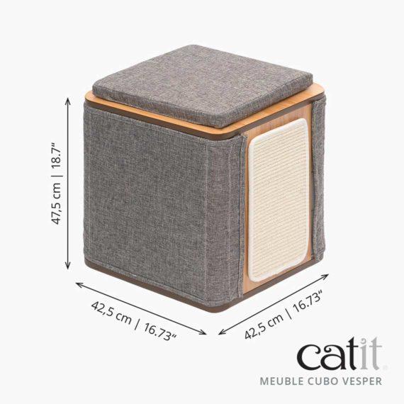 Meuble Cubo Vesper Catit – Mesures