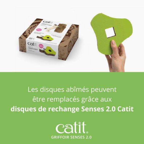Griffoir Senses 2.0 Catit – Les disques abîmes peuvent être remplacés grâce aux Disques de rechange Senses 2.0 Catit