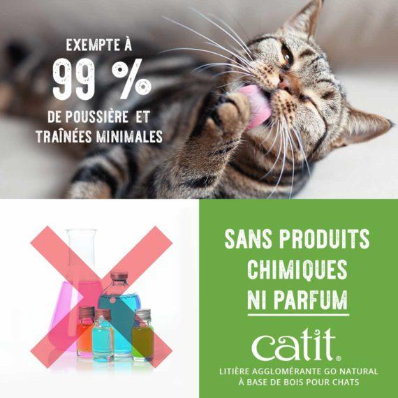 Exempte à 99 % de poussière et traînées minimales, sans produits chimiques ni parfum