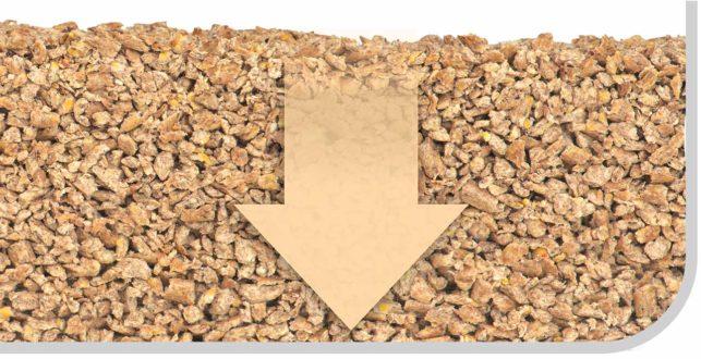 La litière Go Natural Catit à base de bois est tamisée deux fois pendant la production pour s'assurer qu'il n'y a presque plus de poussière