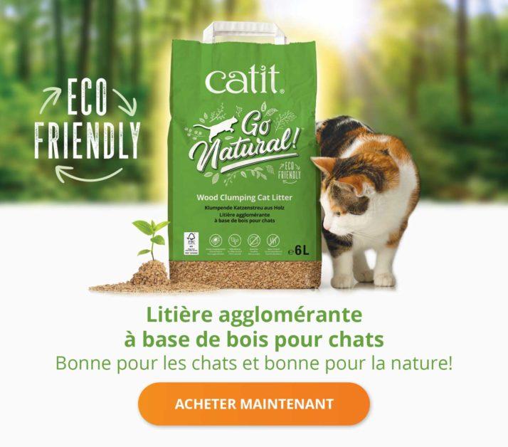 Litière agglomérante à base de bois pour chats - Bonne pour les chats et bonne pour la nature! Acheter maintenant