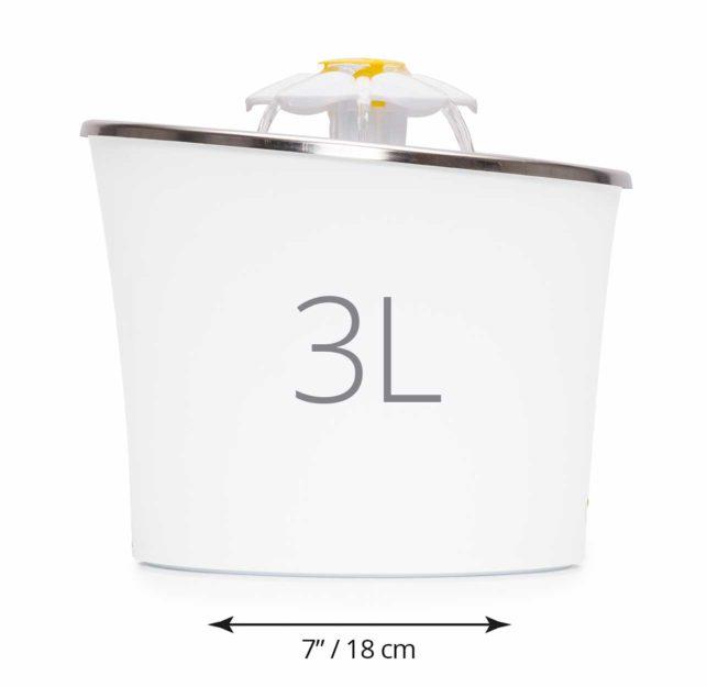 43725 - Abreuvoir avec fleur et dessus en acier inoxydable - Design compact et ergonomique