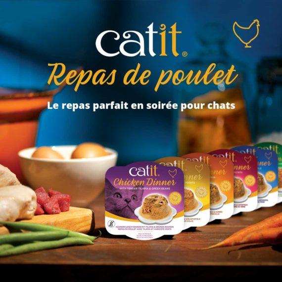 Catit Repas de Poulet - Le repas parfait en soirée pour chats