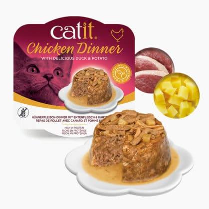 Repas de poulet - canard et pommes de terre - ingrédients